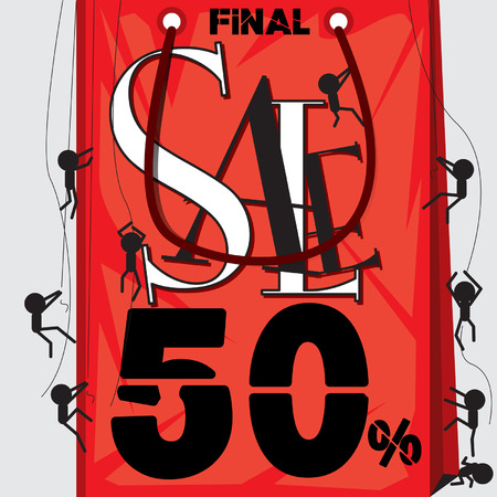 fayer: poster ad sale final 50% Illustration