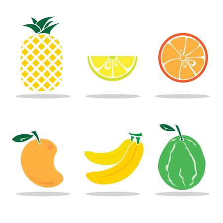 icon fruits set