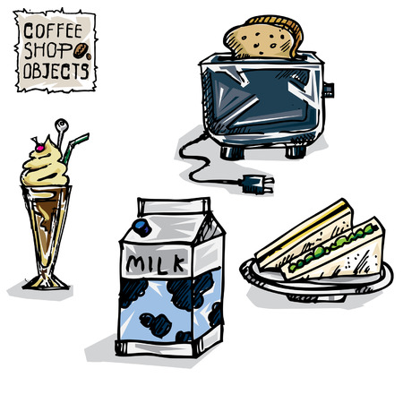 coffee drawing objects E