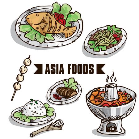 yum: fast food asia objects B