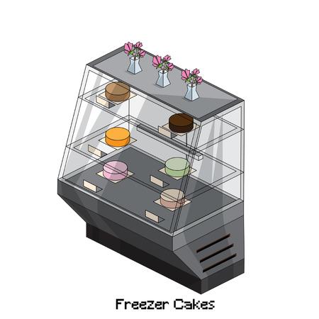 freezer: isometric freezer cakes