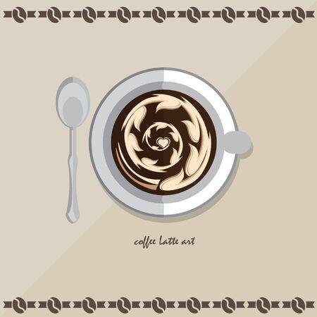 latte: icon coffee latte Illustration