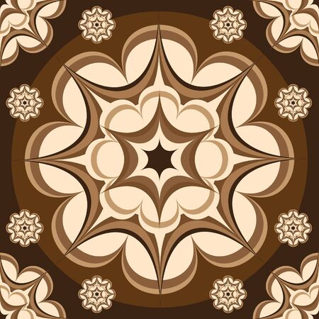 latte: pattern latte art Illustration