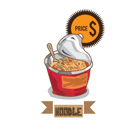 food noodle Illustration