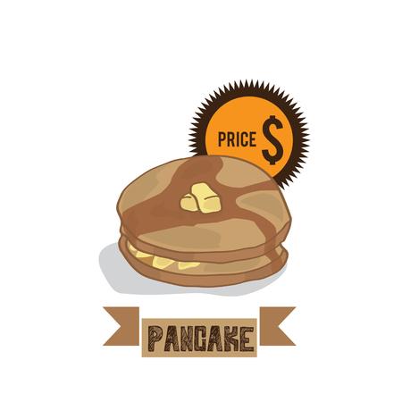 food pancake Illustration