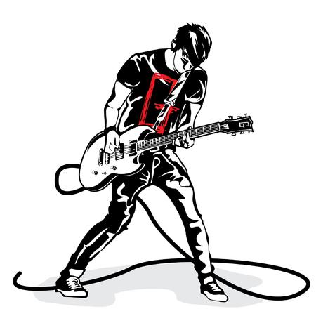 Gitarre Mann Standard-Bild - 71882323
