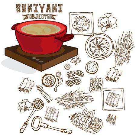 sukiyaki pot objects