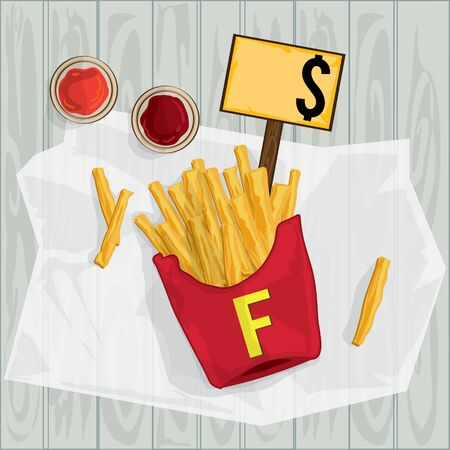 foods objects French fries