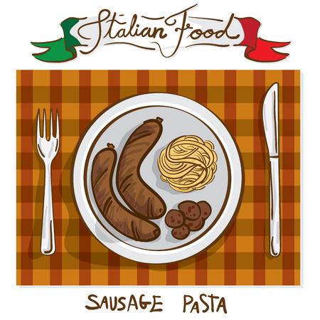 main dishes: italian foods sausage pasta