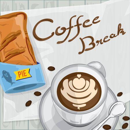 Cool foods objects tuna pie coffee break