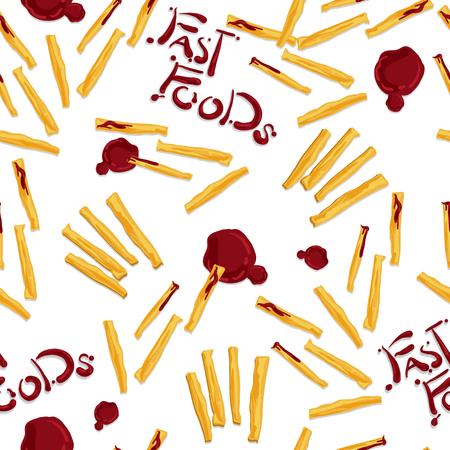 Patate alimentari Patatine fritte. Vettoriali