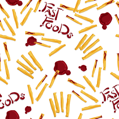 Pattern food French fries.