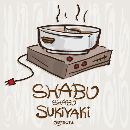shabu sukiyaki objects hot pot