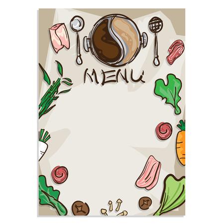 shabu sukiyaki objects menu template