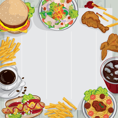 french culture: Menu food drawing graphic  design illustrate objects template.