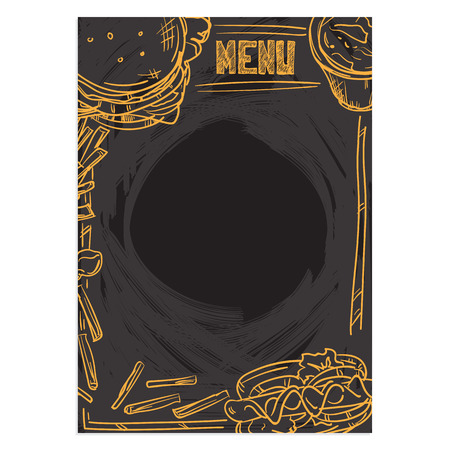 french culture: Menu food template background