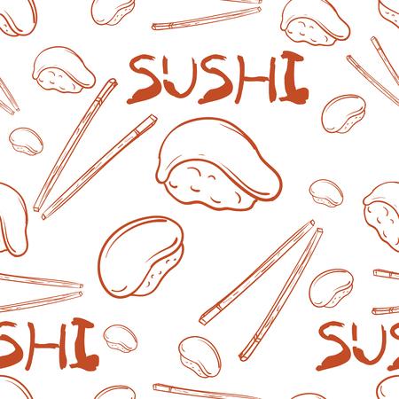 pattern sushi japan foods