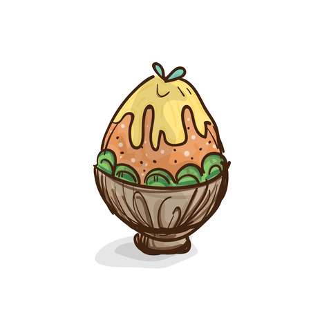 ice cream Patbingsu drawing graphic object Illustration