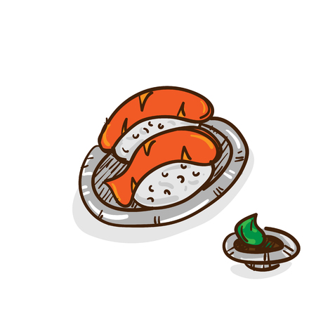 sushi food drawing object