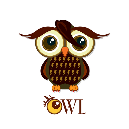 Owl graphic cartoon character Stock Vector - 82936203