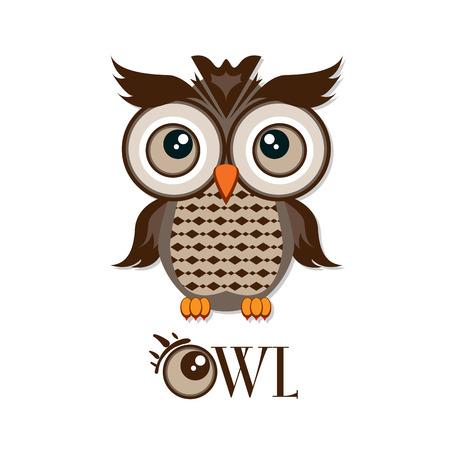 Owl graphic cartoon character Stock Vector - 82936769