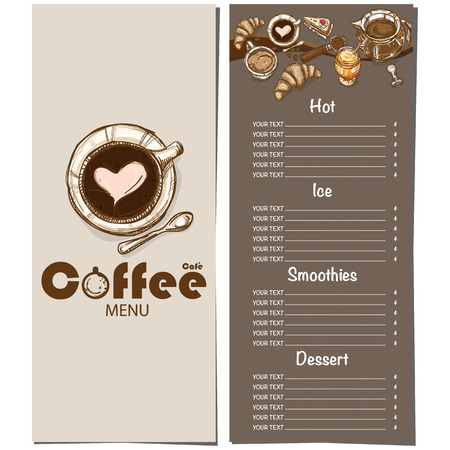 Coffee shop menu template hand drawn graphic illustration royalty coffee shop menu template hand drawn graphic illustration stock vector 88408207 maxwellsz