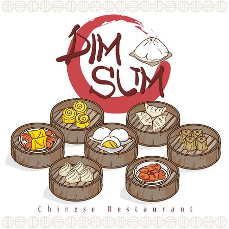 menu dim sum cuisine chinoise restaurant modèle design