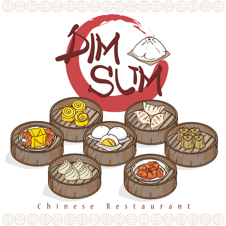 menu dim sum chinese food restaurant template design
