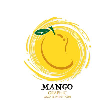 Fruit orange graphic element design icon, key visual water splash background.