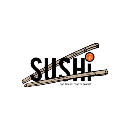 logo sushi japanese food icon design graphic