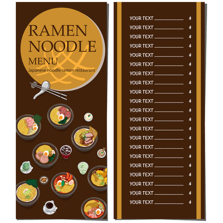 A menu ramen noodle japanese food template design