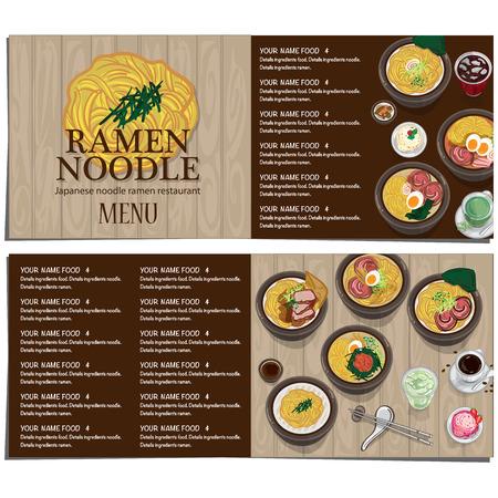 A menu ramen noodle japanese food template design