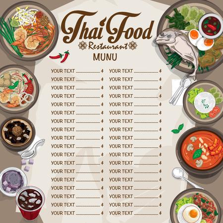 Menu thai food design graphique template Banque d'images - 96313433