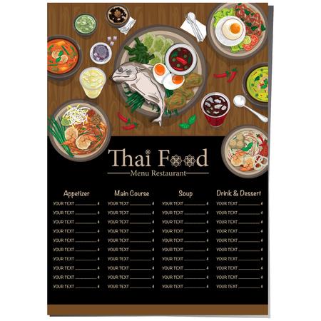 menu thai food design template graphic Vector illustration.