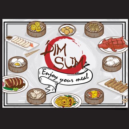 Chinese food menu design template graphic