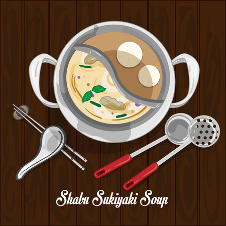 shabu sukiyaki soup illustration graphic object