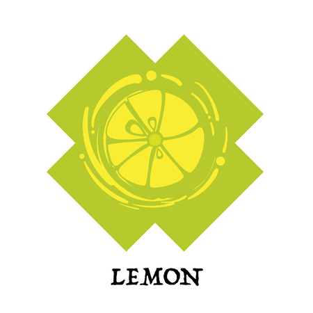 fruit lemon graphic element design key visual icon symbol