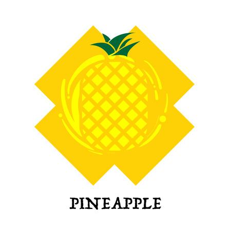 Fruit pineapple graphic element design key visual icon symbol