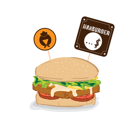 fastfood hamburger drawing graphic object
