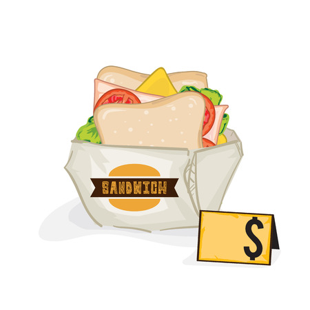 Sandwiches drawing graphic object 矢量图像