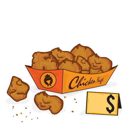 fastfood Fried chicken drawing graphic object