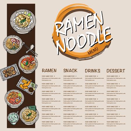 menu ramen noodle japanese template design