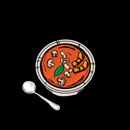 thai food Tom Yum Goong Soup
