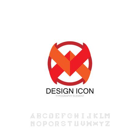 con typography font symbo sign graphic design element Ilustração