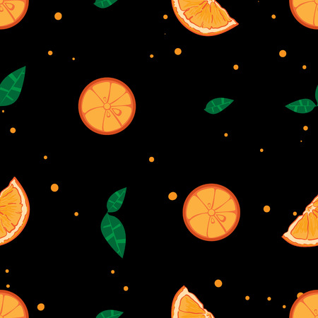 fruit pattern background graphic orange Illustration