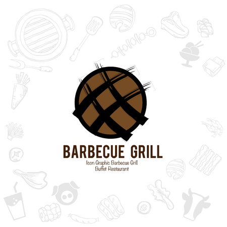 barbecue grill logo icon graphic buffet restaurant