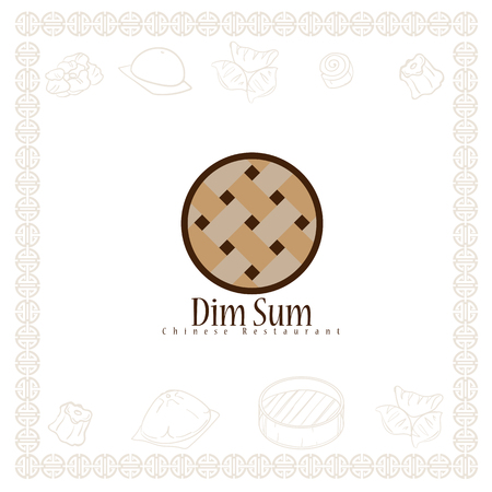 dim sum chinese restaurant food logo symbol graphic Stock Vector - 115687024