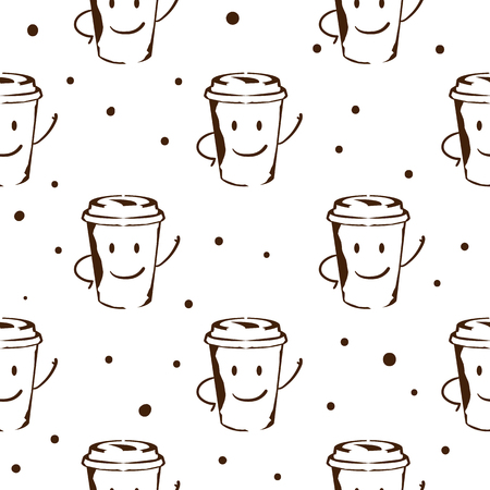 coffee pattern background graphic