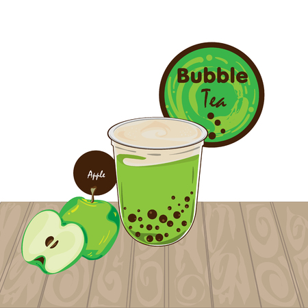 bubble tea graphic cup Foto de archivo - 122274551