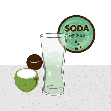 soda soft drink fruit graphic cup Stock Illustratie